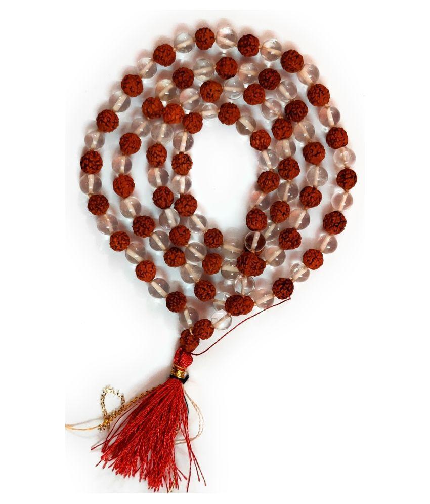 Odishabazaar Hand Knoted Rudraksha Mala Prayer Beads 27 Count Meditation Mala Shiva ATM Card