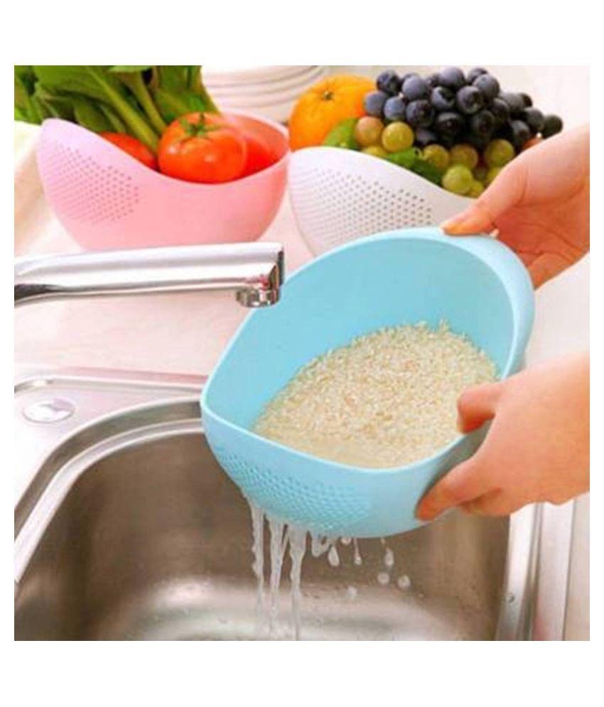 Kitchen Handheld Pot Pan Strainer Rice Veg Pasta Colanders Tool N3